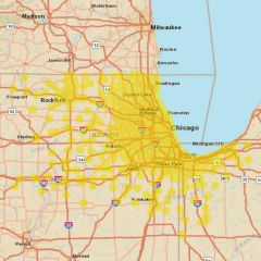 Sprint Market Map - Chicago