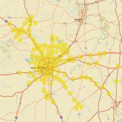 Sprint Market Map - San Antonio