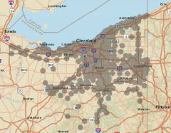 Sprint Market Map - Cleveland
