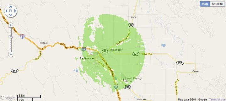 New 4G WiMax Protection Site in La Grande, Oregon