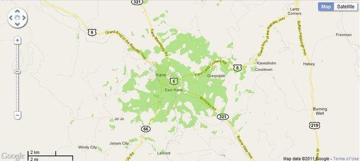 New 4G WiMax Protection Site in Kane, Pennsylvania