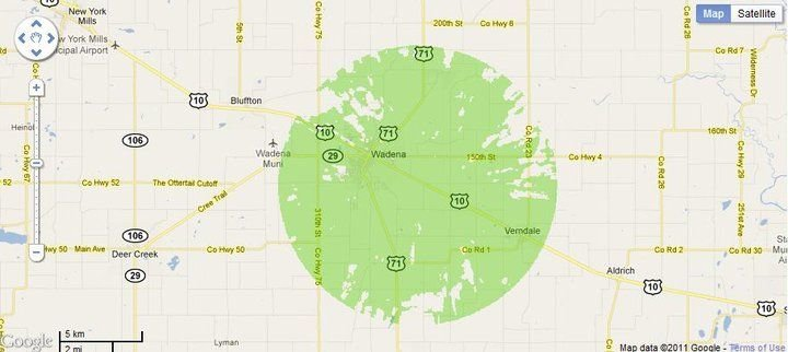New 4G WiMax Protection Site in Wadena, Minnesota