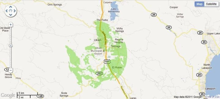 New 4G WiMax Protection Site in Ukiah, California