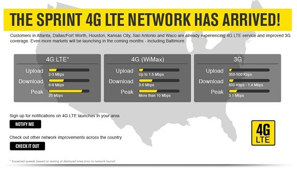 Sprint LTE launched today and a video for your viewing pleasure