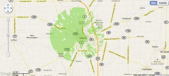 New 4G WiMax Protection Site in Marion, Ohio