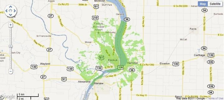 New 4G WiMax Protection Site in Keokuk, Iowa