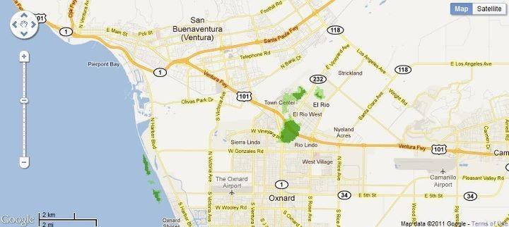 Phantom 4G Site in Oxnard/Ventura, California finally appears on coverage map