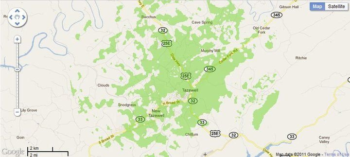 New 4G WiMax Protection Site in Tazewell, Tennessee