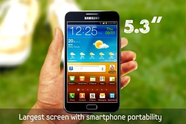 SprintFeed leaks rumor that the new Samsung Galaxy Note not-quite-tablet/not-quite-smartphone is coming to Sprint