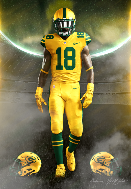 buy popular 4baef 307b5 green bay packers color rush jersey