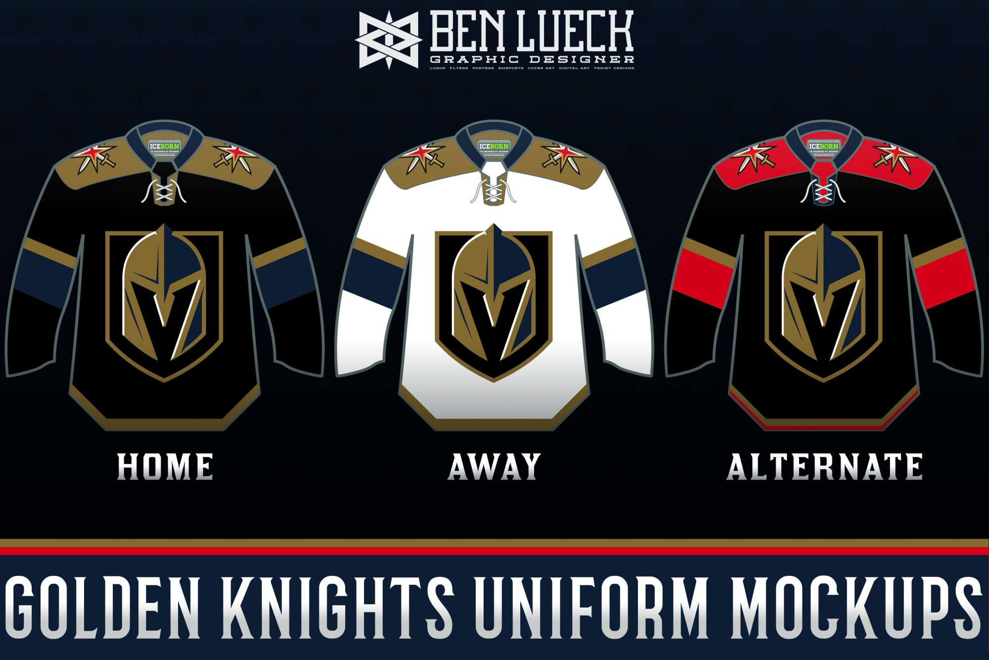 uk availability 10936 fcb60 Vegas Golden Knights Uniform Mock-ups - Concepts - Chris ...