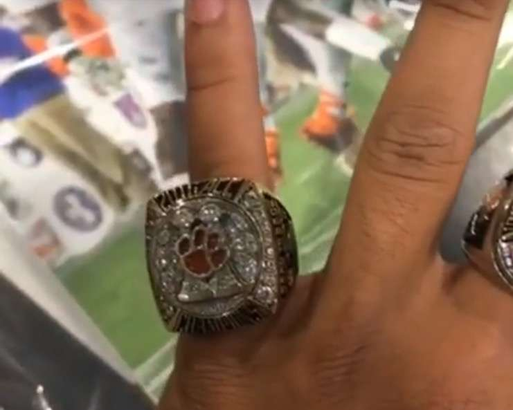 tigers clemson product rings championship ring national best