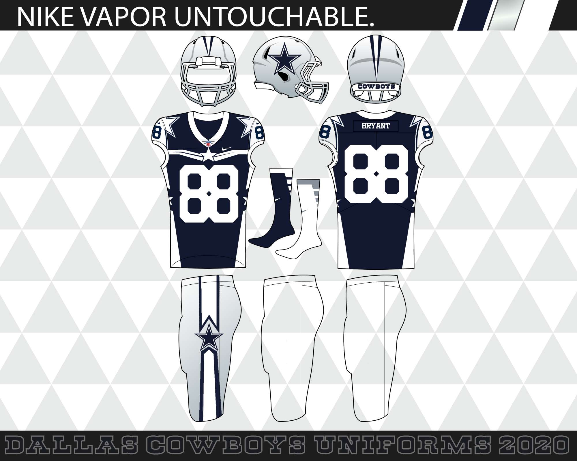 Dallas Cowboys 2020 Schedule.The Dallas Cowboys 2020 Elite Uniforms Concepts Chris