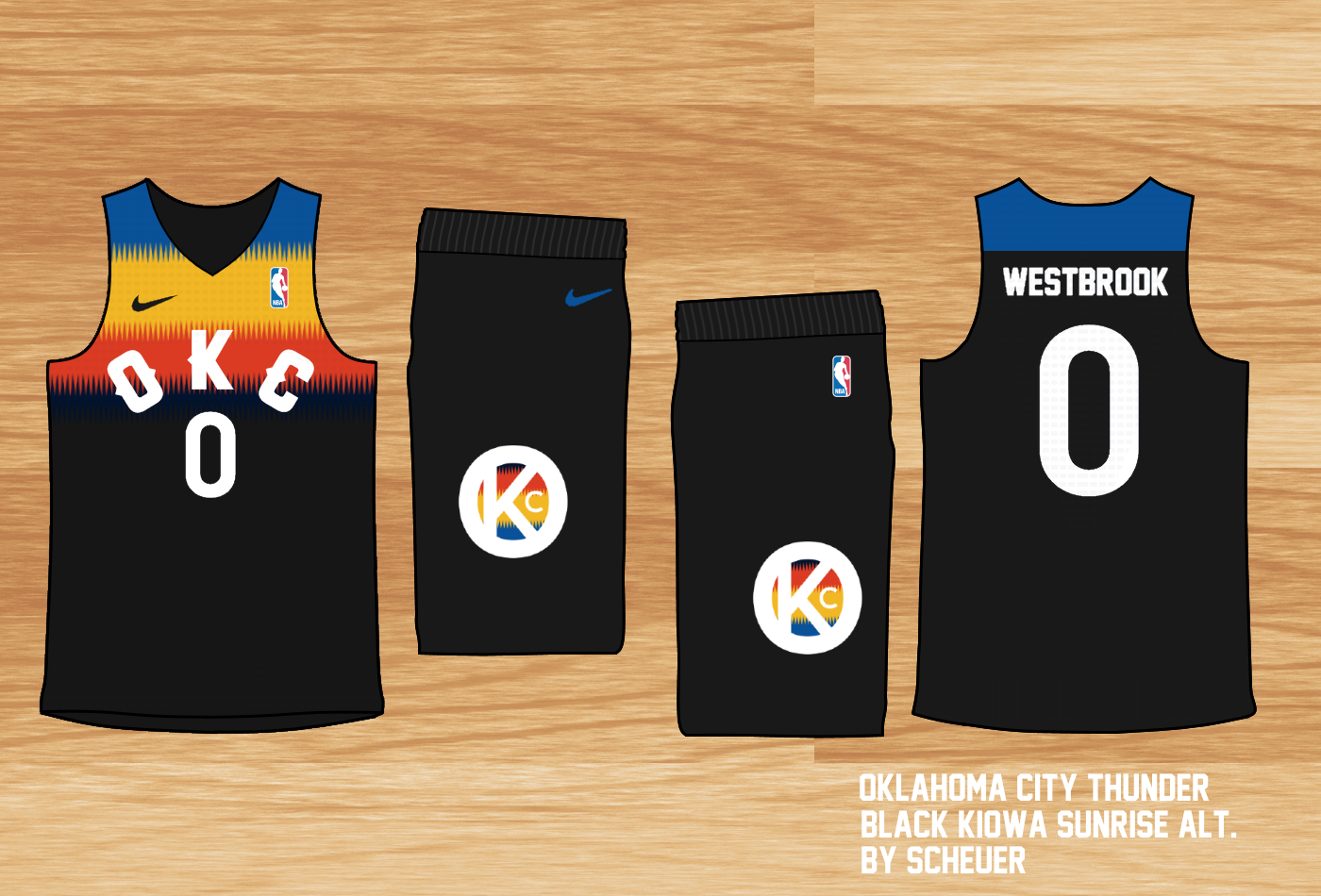 best website c5ef7 374eb Oklahoma City Thunder Nike Uniform Concept - Concepts ...