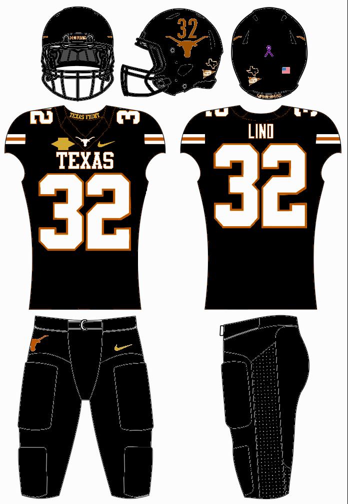 Texas Longhorns Football Uniform Concept