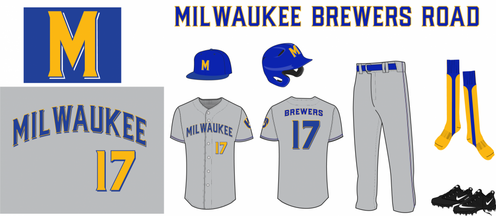 Milwaukee Brewers Uniform Road Mixed colors.png