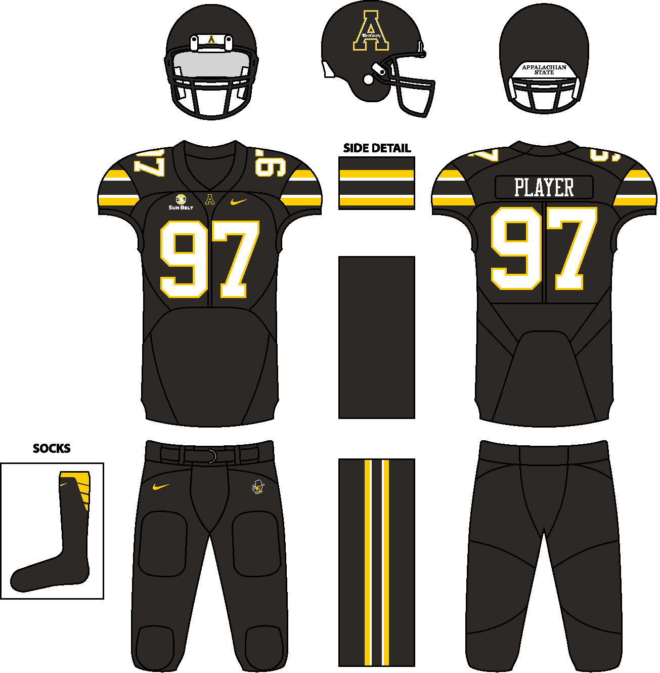 NCAA Division I FBS Concept Uniforms (Done in Paint) - Page