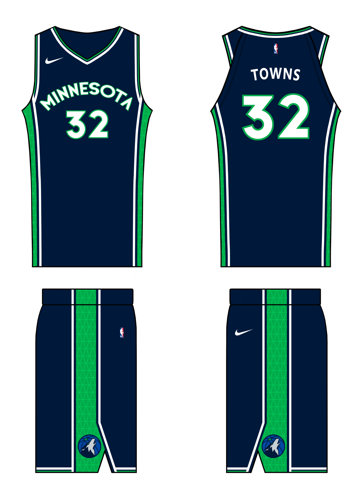 free shipping fa0b6 37ff0 Minnesota Timberwolves: NBA Concepts by honeybadger ...