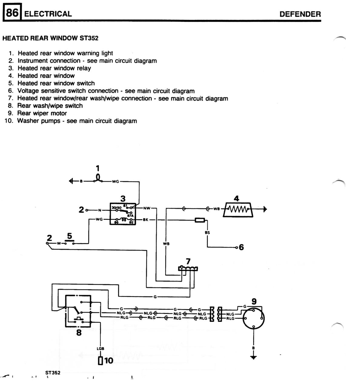 Land Rover Defender 110 Wiring Diagram Automotive Diagrams 3 5 V8 Rear Wiper Electrical