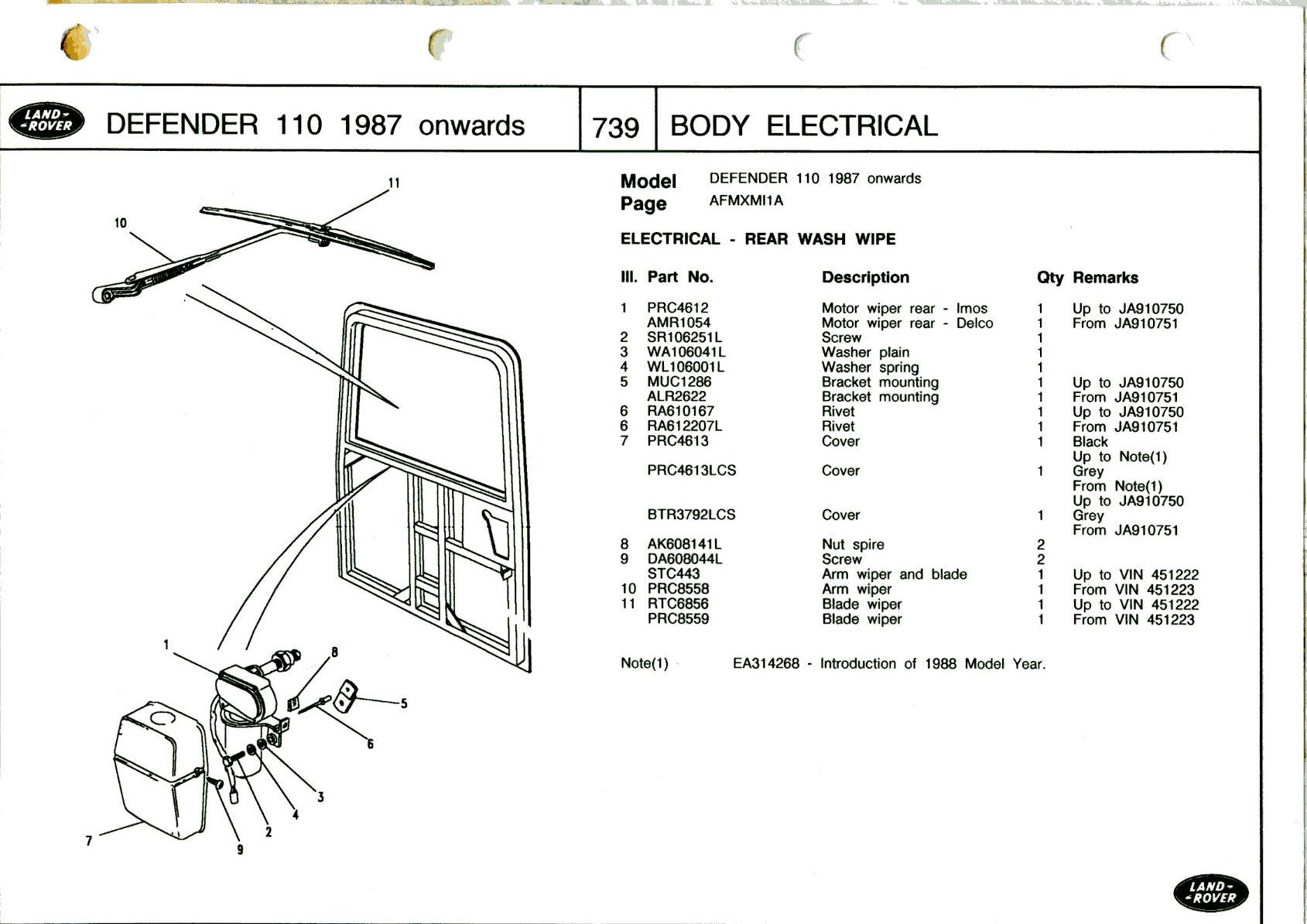 Land Rover Defender Rear Wiper Wiring Diagram Schematic Diagrams Freelander Forum Lr4x4 The