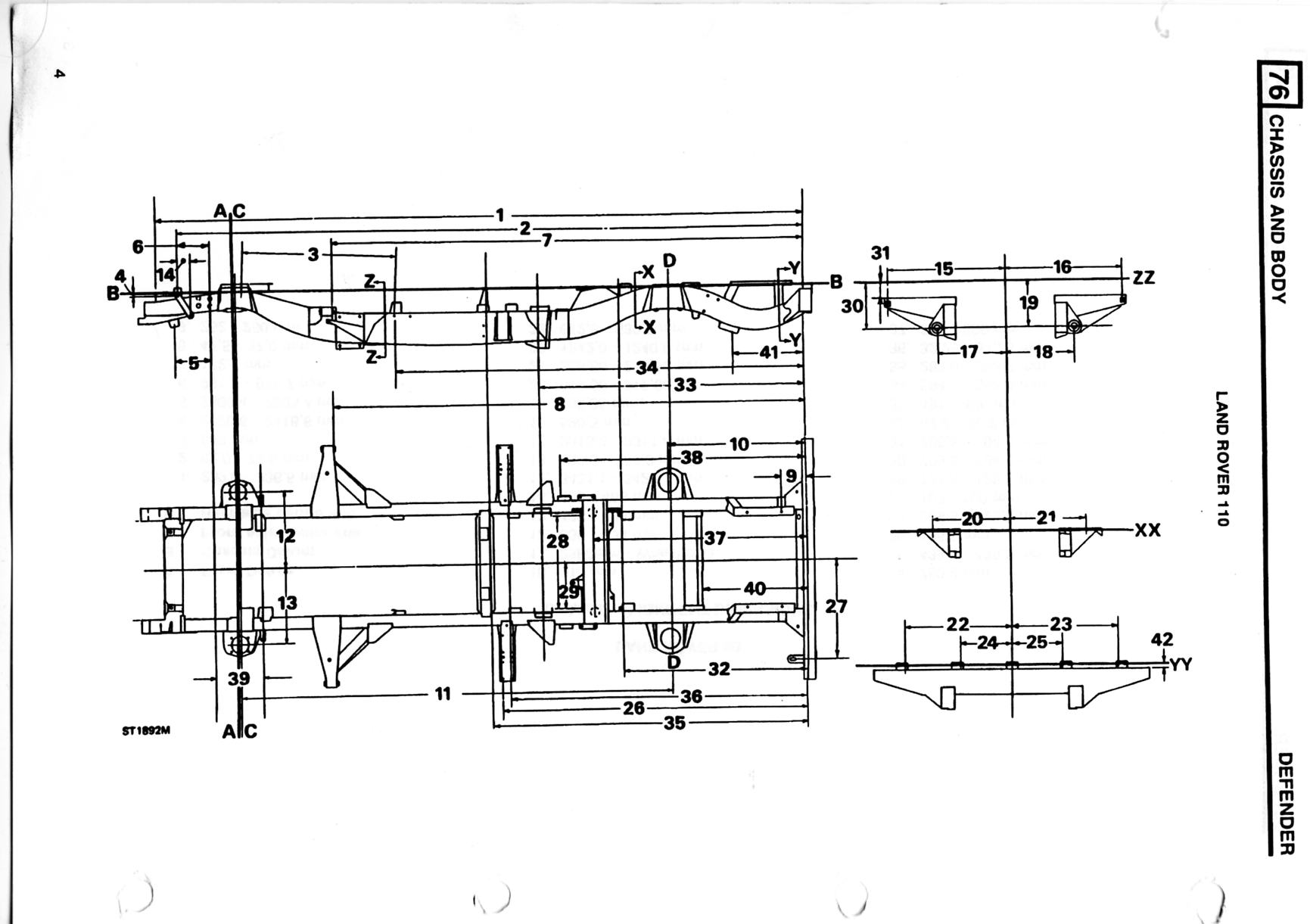 Defender 110 Chassis Dimensions Defender Forum Lr4x4