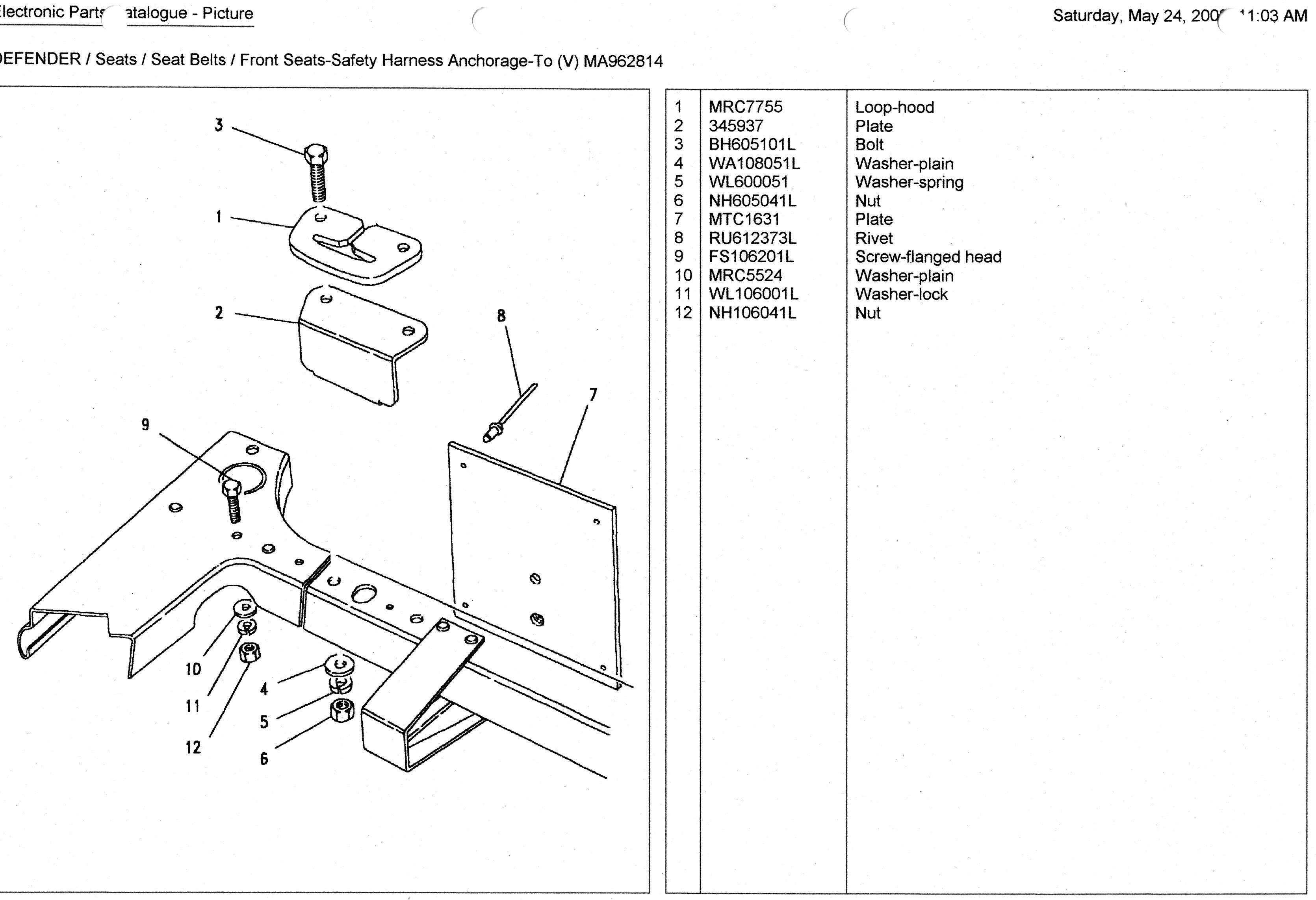 wiring pin rover land landrover diagram catalog npr parts for isuzu automotive