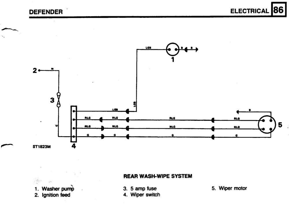 Rear Wiper Motor Wiring - Defender Forum - Lr4x4