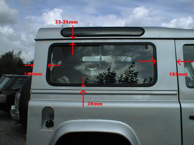 Adding Rear Side Windows To A 90 Defender Forum Lr4x4