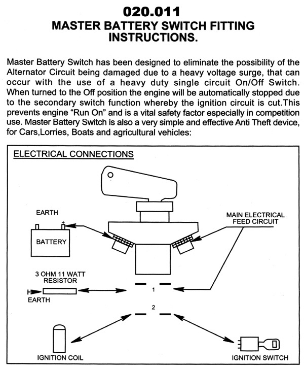msa cut off switch - International Forum - LR4x4 - The Land Rover Forum | Battery Master Switch Wiring Diagram |  | LR4x4