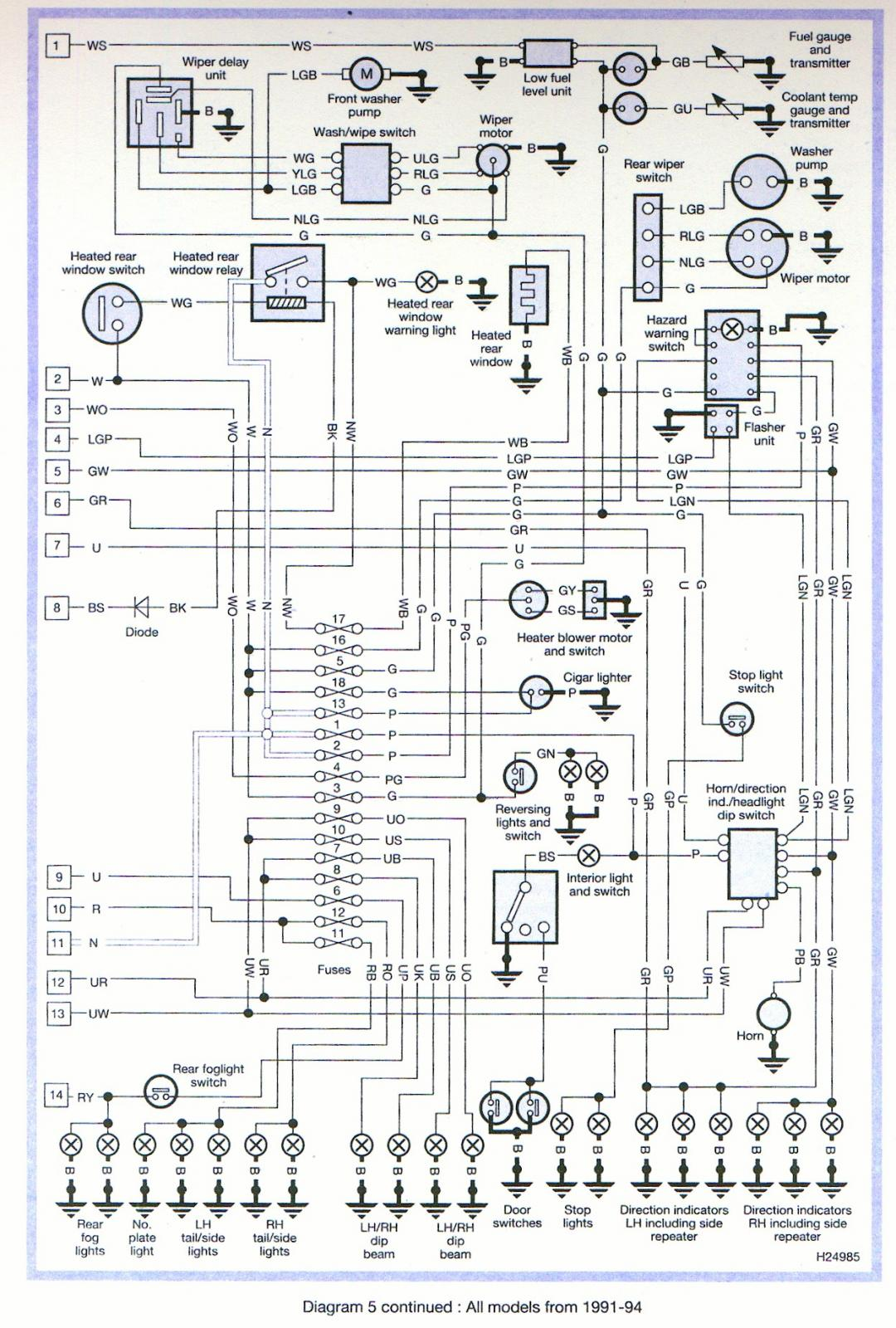 land rover defender 90 rear wiring diagram land rover defender heated windscreen wiring diagram