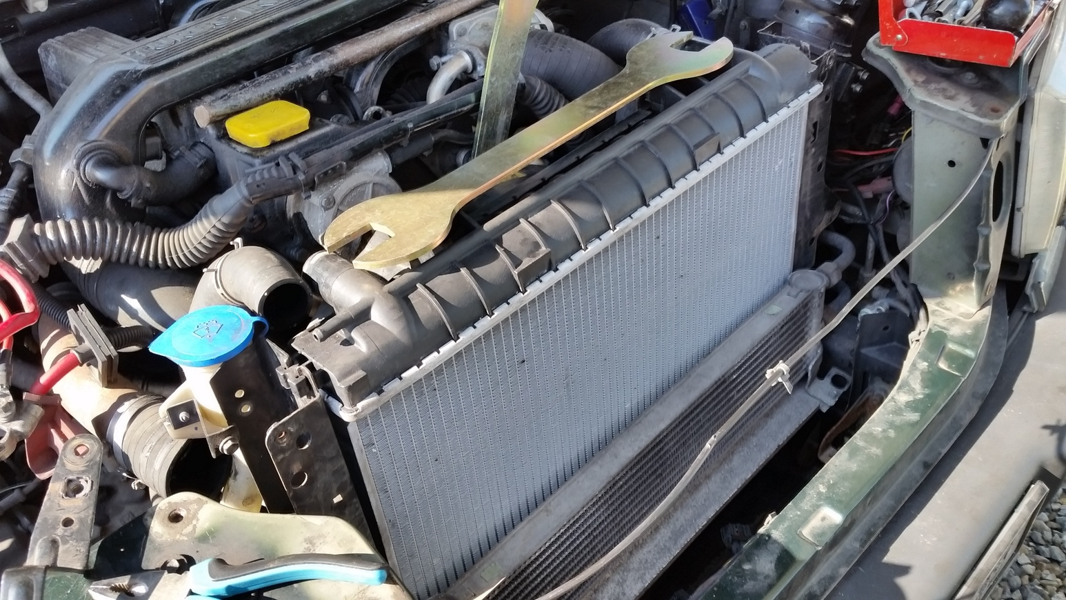 New motor, an old P38, baptised in pain already! - Range