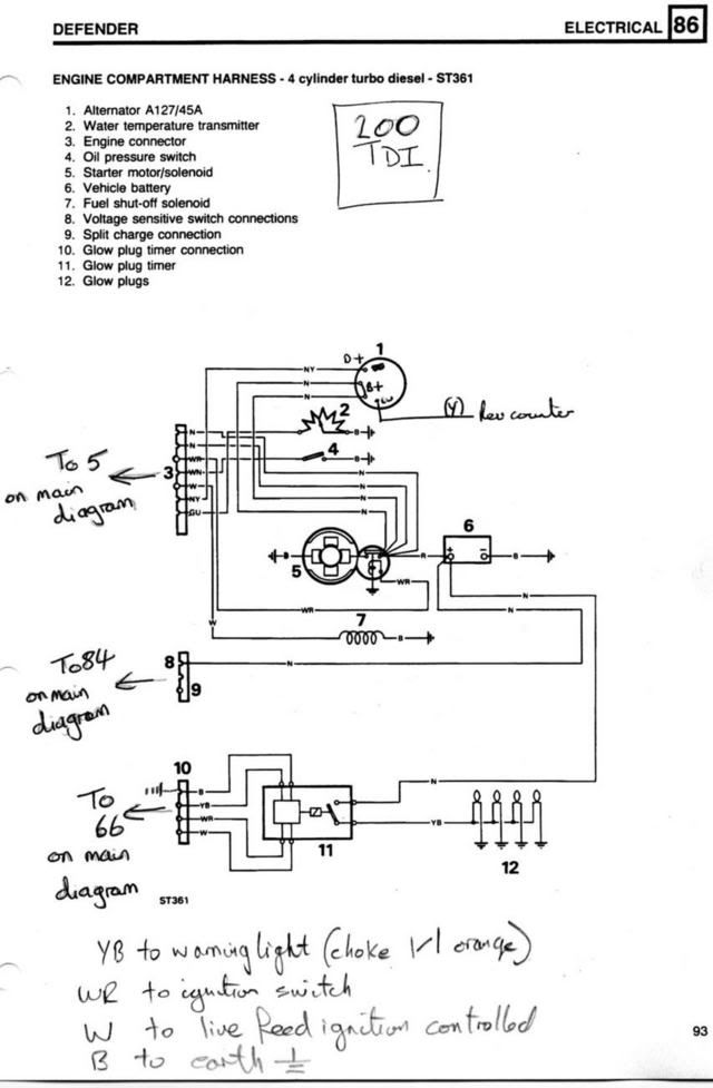 6 5 diesel glow plug wiring diagram 200tdi glow plug relay connections land rover technical archive  200tdi glow plug relay connections