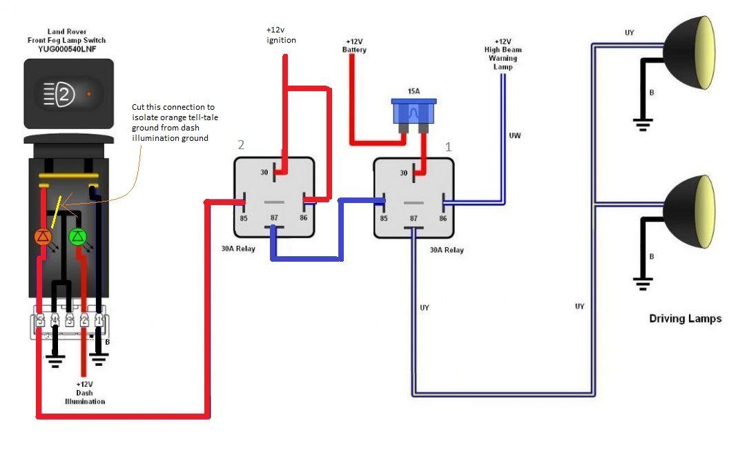 Defender Spotlight Alternative Wiring, Wiring Diagram Spotlights