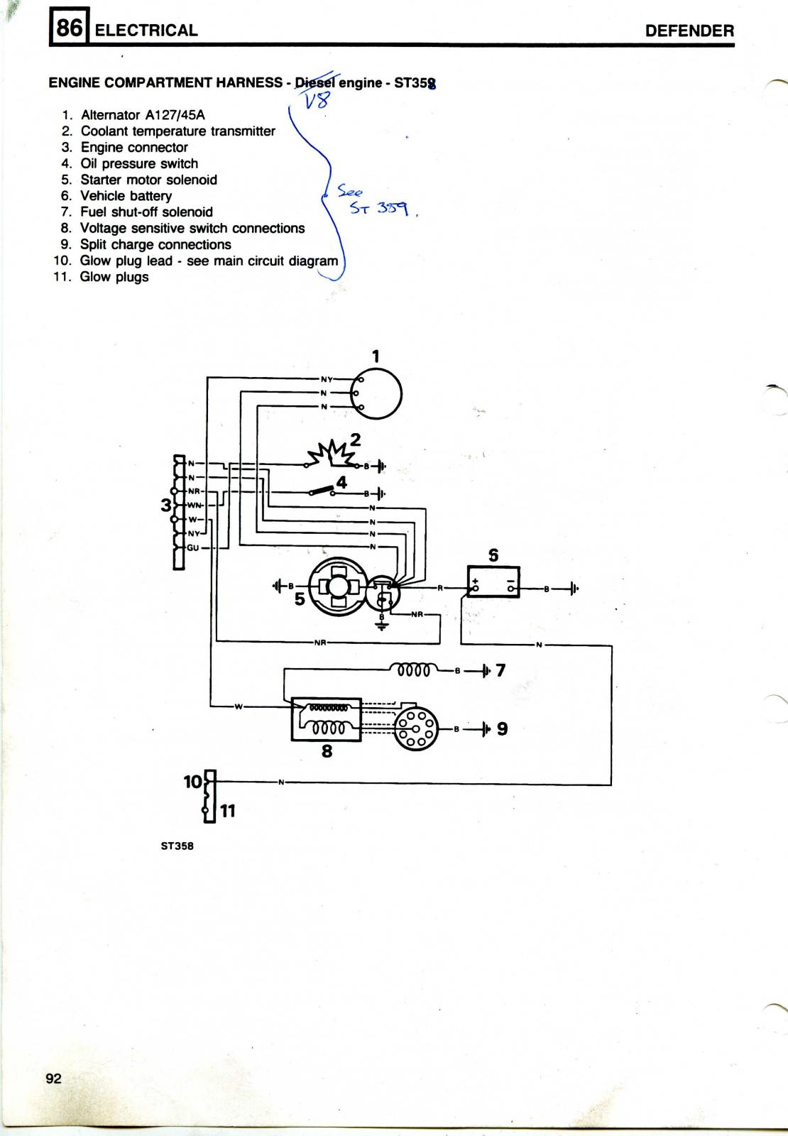 land rover 90 v8 3.5 (carb) wiring diagram needed ... 2002 land rover discovery stereo wiring diagram