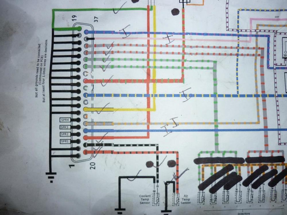 Megasquirt V8 Wiring - A detailed \