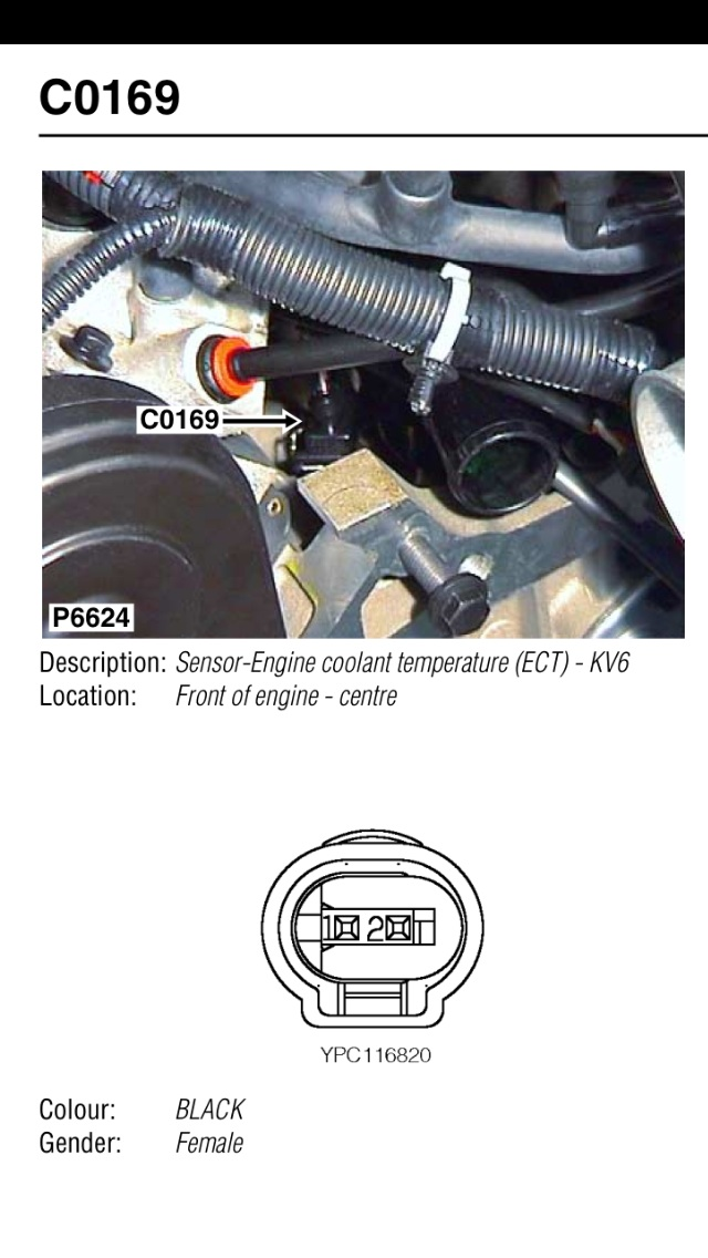 Where is the coolant temperature sensor on TD4 BMW engine
