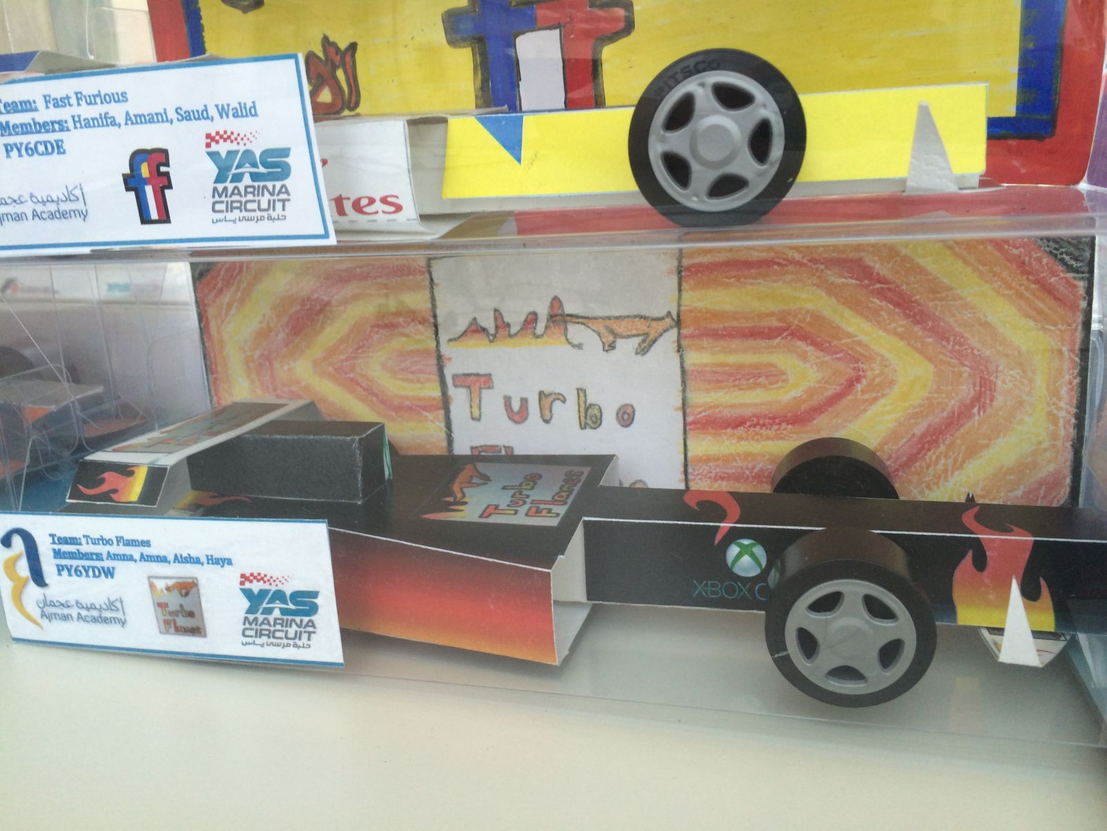 Sample Paper Cars - Yas in Schools Torque