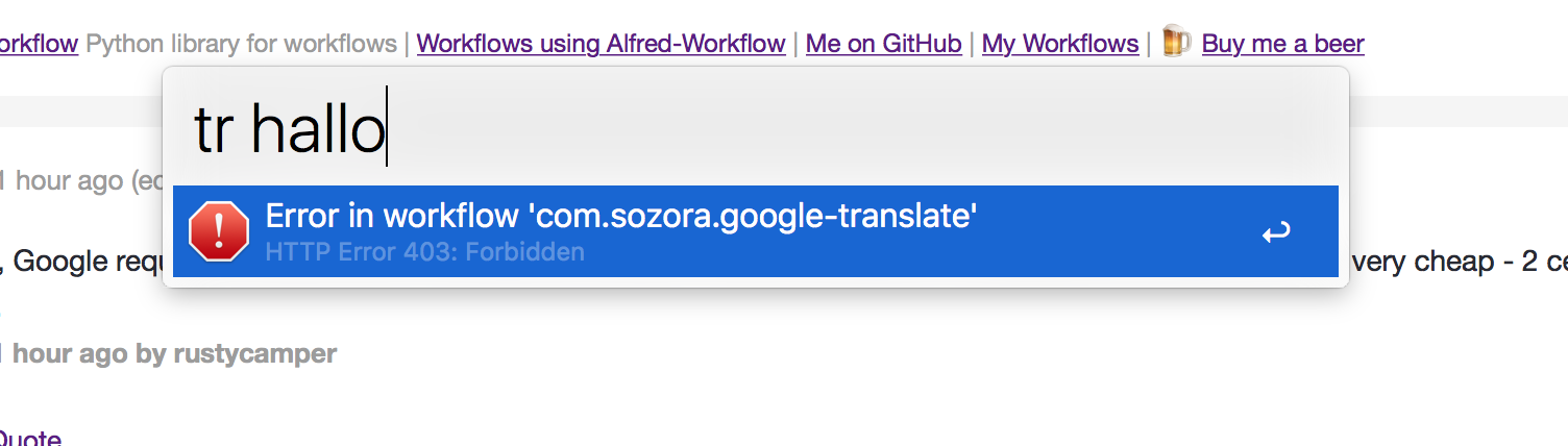 Translate Workflow - Share your Workflows - Alfred App