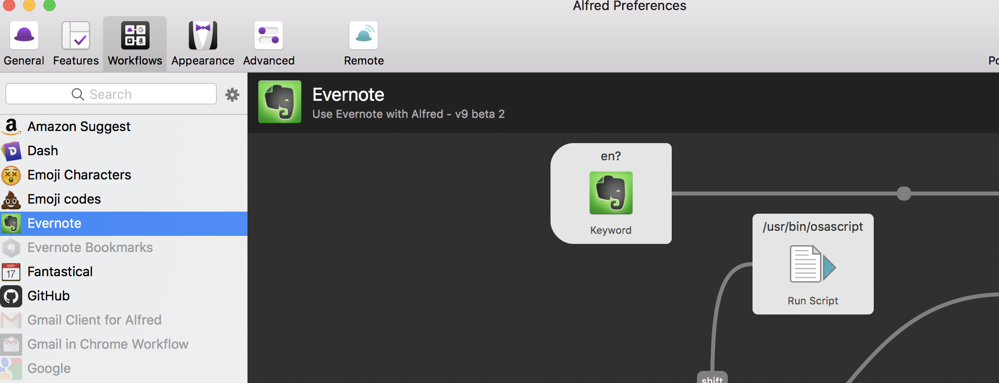 Evernote Workflow 9 beta 4 (Alfred 4) - Page 27 - Share your