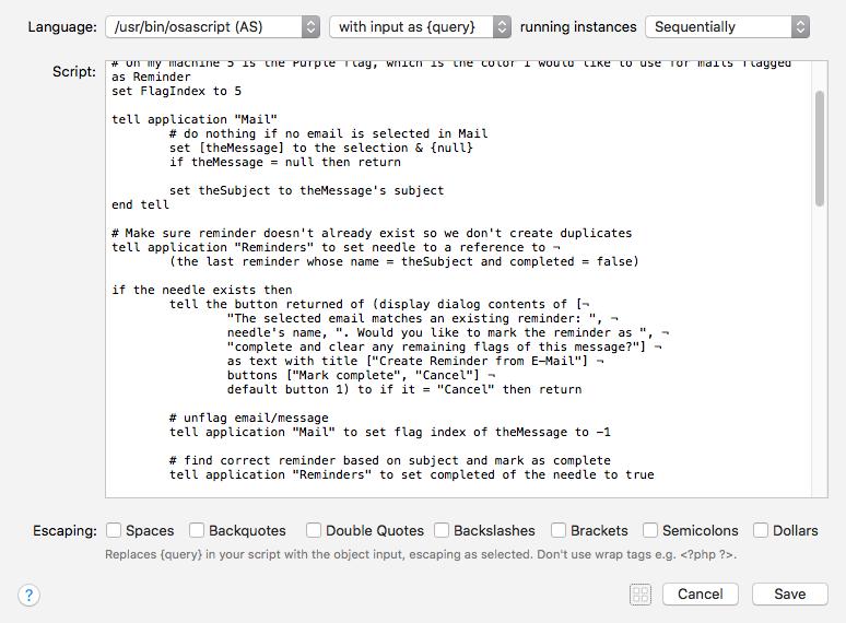 Osascript Display Dialog