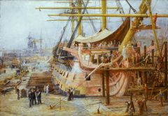 Restoring HMS Victory, By William Lionel Wyllie