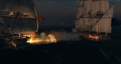 Night cannon fire