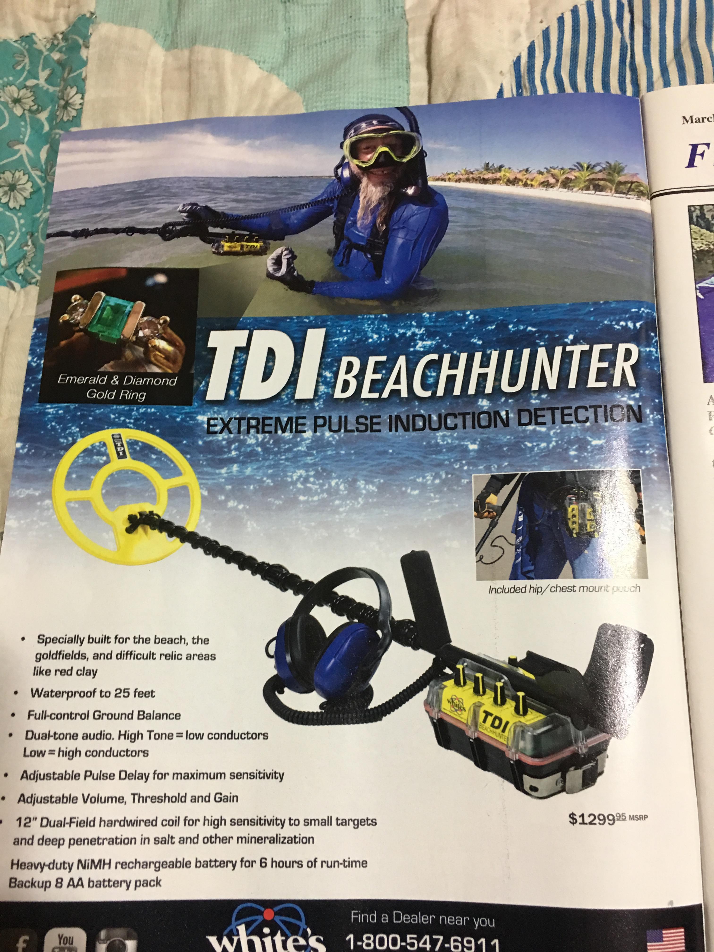 Beachhunters Password white's tdi beachhunter in action - gold nugget hunting