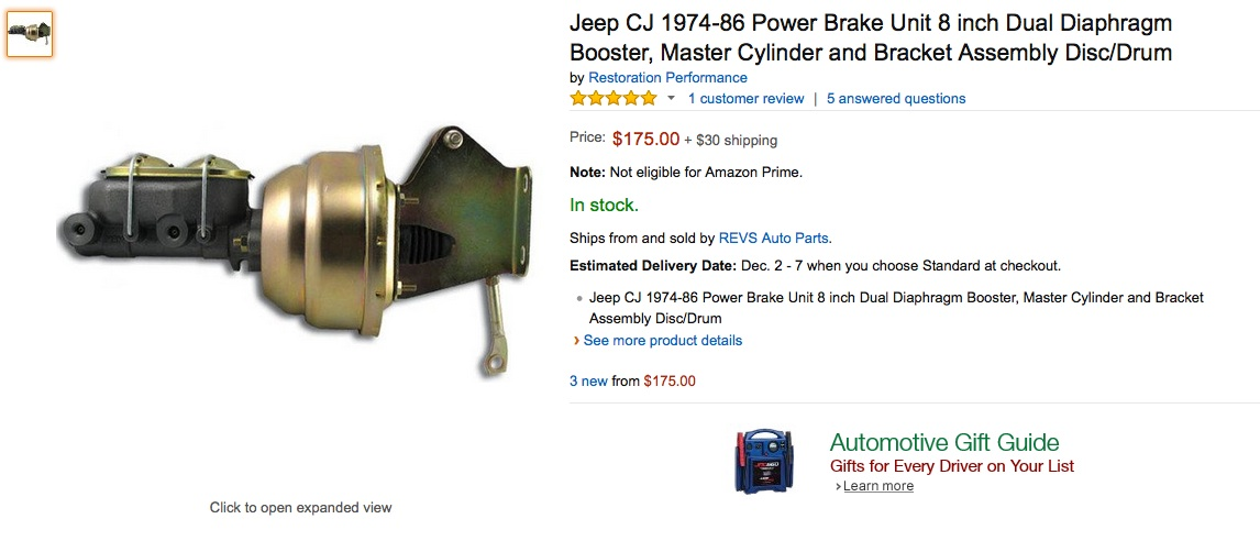 Jeep Brake Master Cylinders and Residual Valve Options