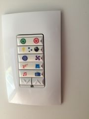 Keypad with adhesive icons