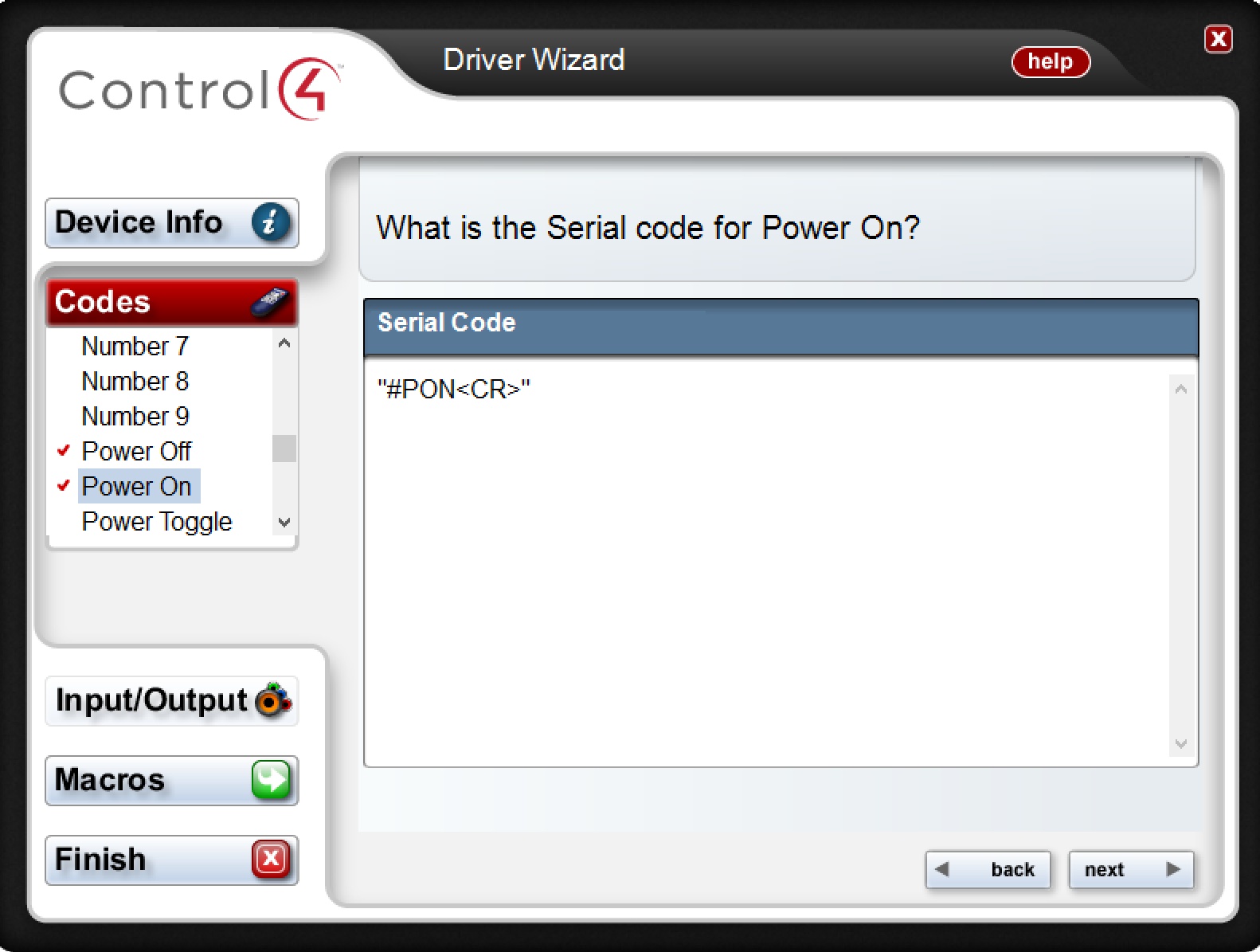 CONTROL4 RS232 DRIVER