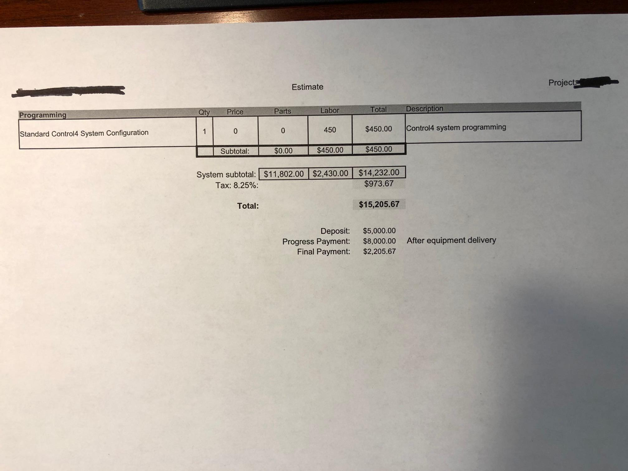 Got an estimate for my system upgrade, where can I trim the