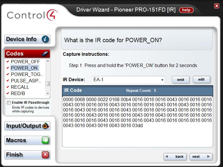 Help With Troubleshooting/Configuring IR on EA-1 - Troubleshooting