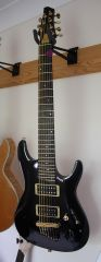 "26.5"" 7-string Ibanez Sabre-type guitar"