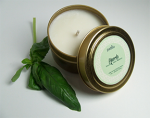 Huerto - Lemongrass, Basil & Sage 4oz travel tin soy candle